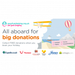 all aboard for big donations